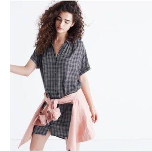Madewell Central ShirtDress Thompson Plaid Large